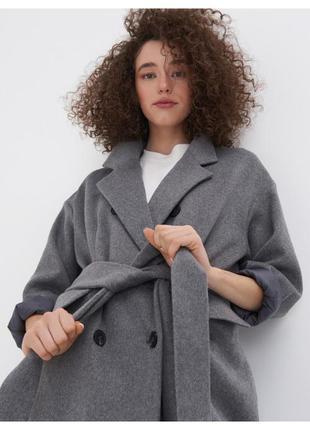 Пальто оверсайз длинное