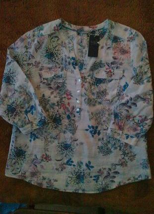 55% лен+45% хлопок, блуза туника m&s
