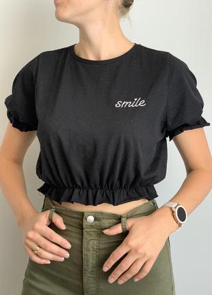Укорочена футболка кроп primark футболка топ укорочений
