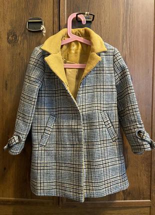 Пальто на девочку 30% шерсти