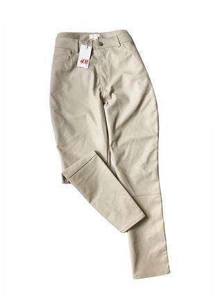 Кожаные штаны брюки утеплённые☝️