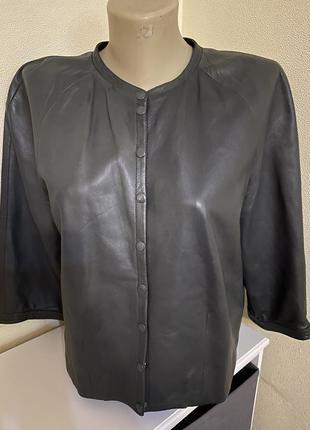 Кожаный , лайковый пиджак, куртка, италия, bertoni