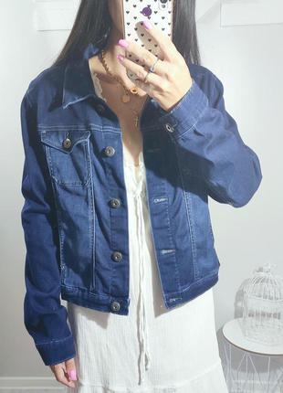 Джинсовка джинсовая куртка синяя crafted lee