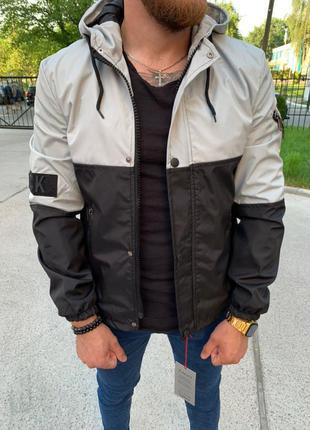 Куртка ветровка водоотталкивающая ткань