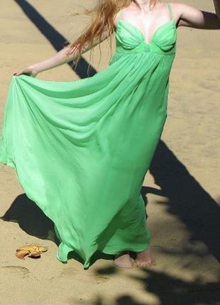 Шёлковое платье byurse салатовое