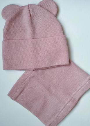 Набір шапка снуд шарф комплект набор
