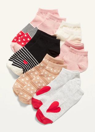 Детские носки, носочки для девочки old navy, набор носков 6 пары, р. l (35-38), 19 см
