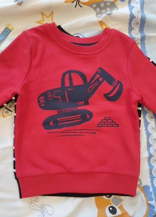 Свитшот, свитер, худи на флисе (байке) джордж,  2-3года