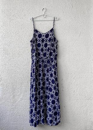 Натуральное макси платье
