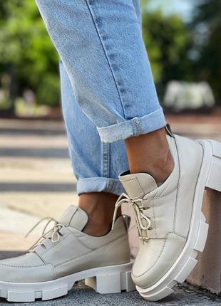 Туфли кожаные,  броги кожаные