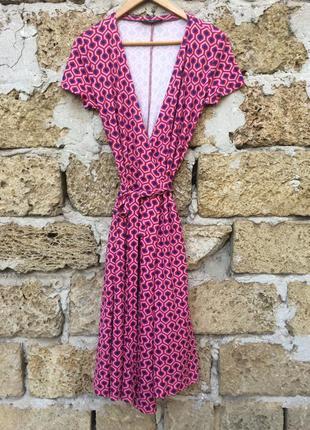 Итальянская дизайнерское платье миди на запах от max mara