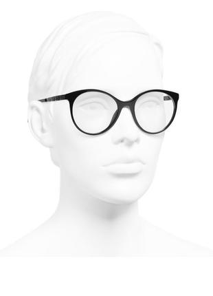 Chanel оригинал черная круглая оправа имиджевые очки