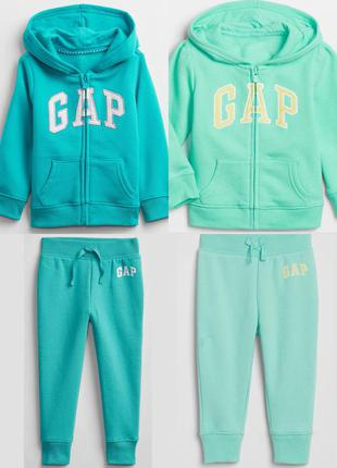 Спортивный костюм gap комплект гэп худи кофта на молнии спортивные штаны брюки гап на флисе флисовые