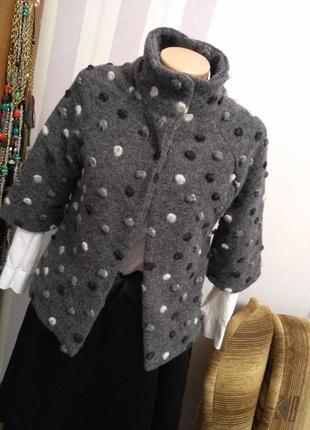 Шерстяной жакет пиджак пальто накидка кардиган кофта италия