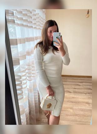 Трикотажна котонова сукня міді