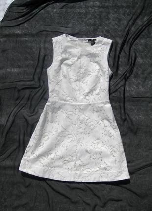 Белое ажурное платье h&m