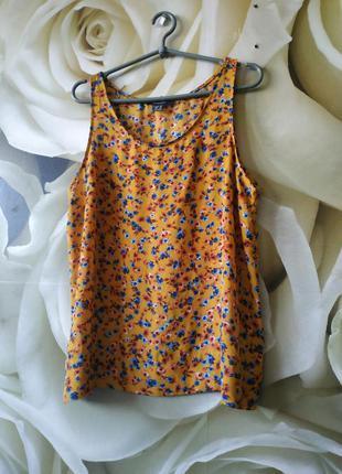 Майка топ блуза в цветочный принт