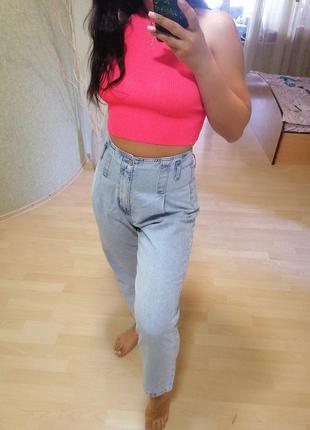 Светлые голубые джинсы большого размера 40-42р