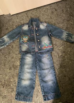 Джинсовый костюм на девочку gloria jeans