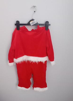Красный костюс санты комбинезон