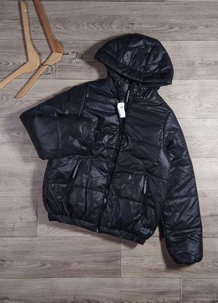 Новая черная куртка дутик демисезон