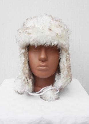 Зимняя теплая меховая шапка ушанка2