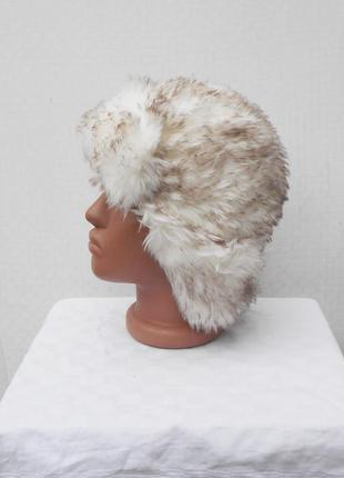 Зимняя теплая меховая шапка ушанка1