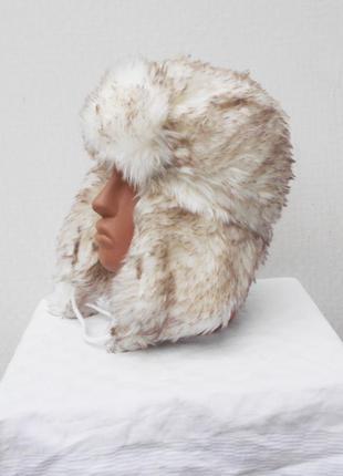 Зимняя теплая меховая шапка ушанка5
