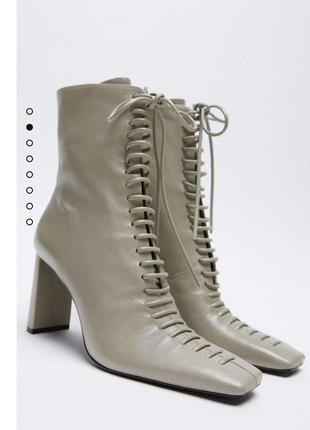 Новые женские кожаные ботильоны зара оригинал размер 39