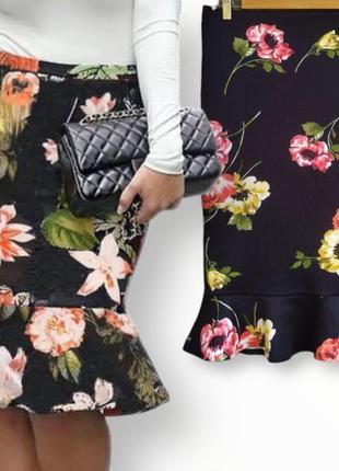 Шикарная юбка футляр  с воланом dorothy perkins