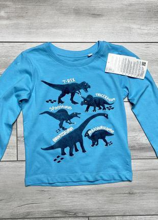 Тонкая кофта на мальчика с динозаврами c&a