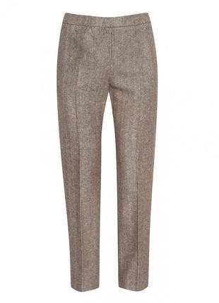 Бежевые штаны, брюки в ёлочку со стрелками р. m/l