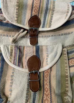 Тканевый рюкзак в стиле бохо.