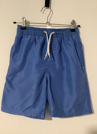 Блакитні пляжні шорти next на хлопчика 8 років