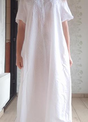 Белая ночная рубашка в вышивку /нічна сорочка в вишивку