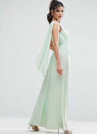 Мятное платье макси asos,р-р 6