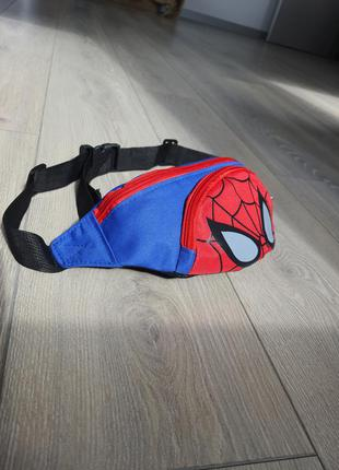 Бананка спайдермен / spiderman бананка детская  дитяча сумка на пояс