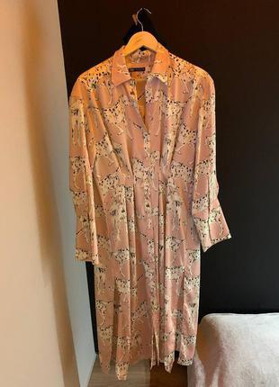 Платье рубашка с далматинцами zara