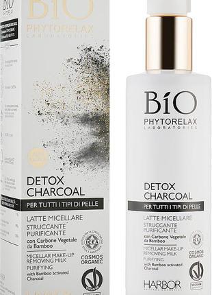 Harbor phytorelax detox charcoal micellar make-up removing milk  мицеллярное молочко