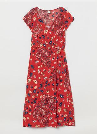 Платье на запах h&m.