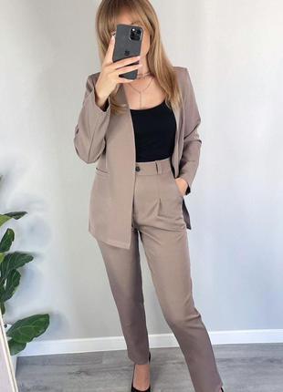 Костюм классика, костюм брюки и пиджак, 3 цвета