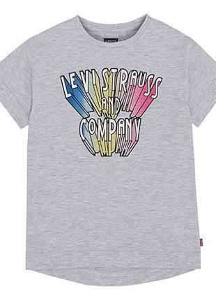 Хлопковая футболка levis на девочку подростка 10-12 лет