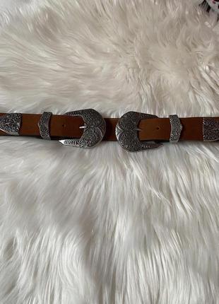Ремень с двумя пряжками, пояс с двойной пряжкой accessories