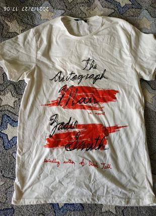 Яркая футболка, модный принт, размер м.