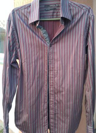 Крутая рубашка под запонки celio