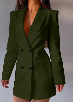 Платье-пиджак с открытой спинкой