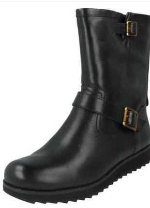 Новые clarks minx trish кожаные сапоги размер 37, 38. 5, 39. 5, 40
