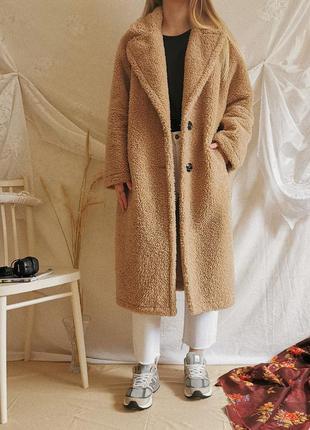Плюшевое пальто тедди teddy шерпа мягкая шуба