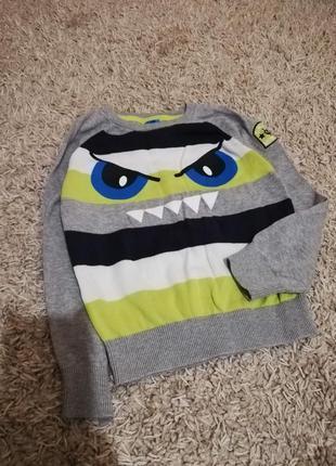 Kiki&koko. фирменный свитер. разм 104/110