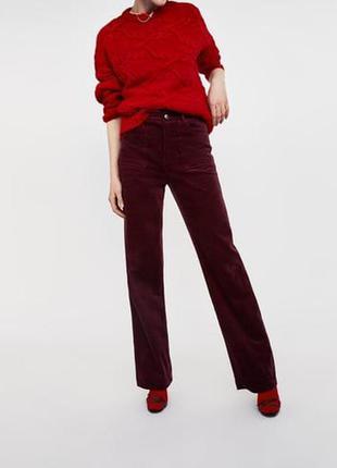 Вельветовые широкие брюки zara